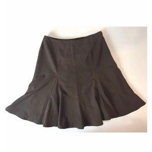 Apostrophe Brown Flare Skirt
